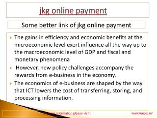 How to Find best link  about jkg online payment