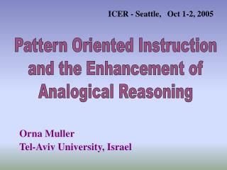 Orna Muller      Tel-Aviv University, Israel
