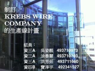 制訂 Krebs Wire Company 的生產線計畫