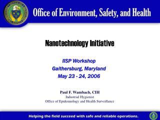Nanotechnology Initiative