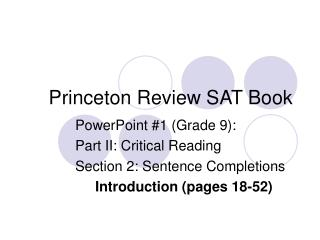 Princeton Review SAT Book