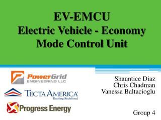 EV-EMCU Electric Vehicle - Economy Mode Control Unit