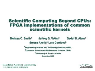 Scientific Computing Beyond CPUs:  FPGA implementations of common scientific kernels