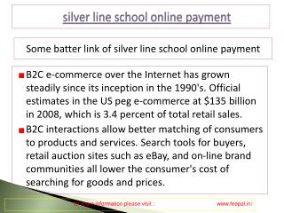 Payment view about silver line school online payment