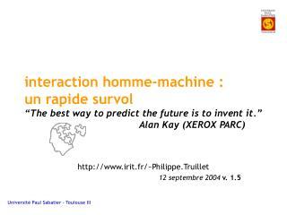 irit.fr/~Philippe.Truillet 12 septembre 2004  v. 1.5