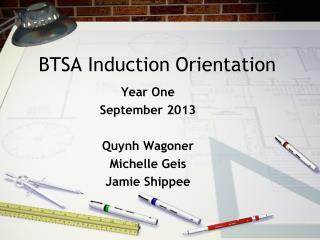 BTSA Induction Orientation