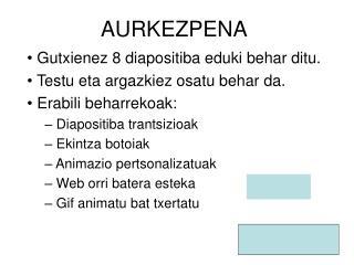 AURKEZPENA