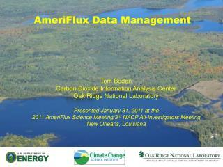 AmeriFlux Data Management