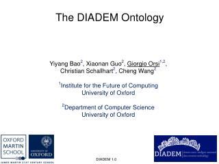The DIADEM Ontology