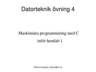 Datorteknik övning 4