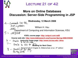 Lecture 21 of 42