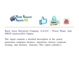 Rural Areas Electricity Company S.A.O.C. - Power Plants And