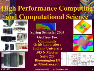 High Performance Computing and Computational Science