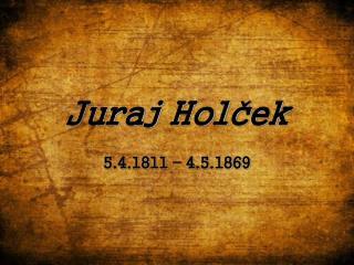Juraj Holček