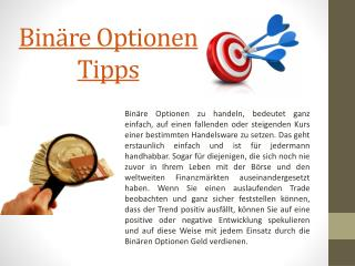 Die Besten Binäre Optionen Tipps