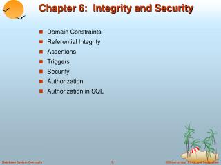 Chapter 6:  Integrity and Security