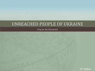 Unreached People of Ukraine