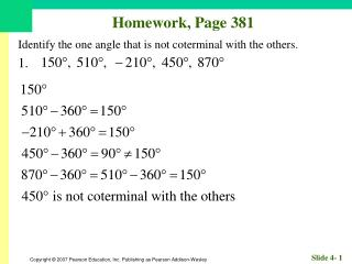 Homework, Page 381