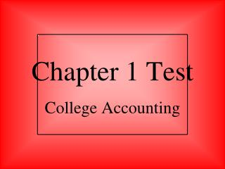 Chapter 1 Test