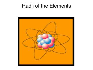Radii of the Elements