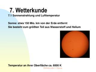 7. Wetterkunde