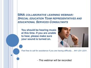 - This webinar will be recorded.