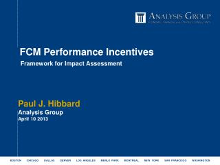 FCM Performance Incentives