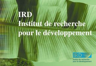 IRD Institut de recherche pour le d�veloppement