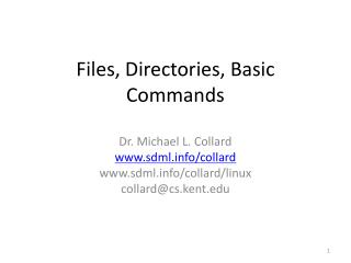 Files, Directories, Basic Commands