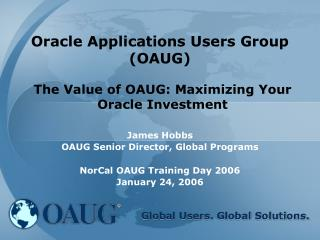 Oracle Applications Users Group (OAUG)