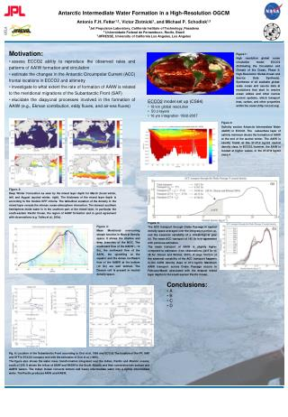 Antarctic Intermediate Water Formation in a High-Resolution OGCM