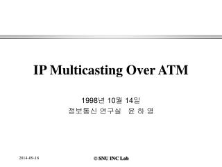 IP Multicasting Over ATM