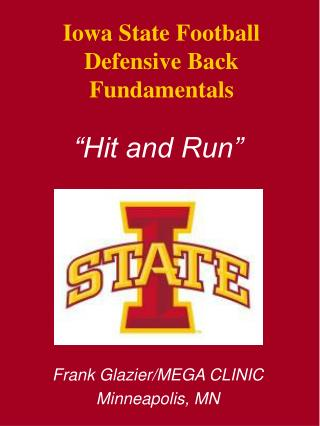 Iowa State Football Defensive Back Fundamentals