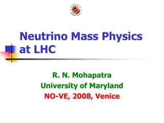 Neutrino Mass Physics at LHC