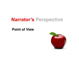 Narrator's Perspective