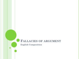 Fallacies of argument