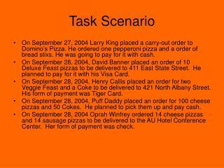 Task Scenario