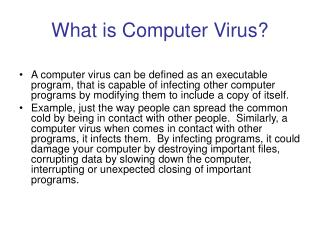 What is Computer Virus?