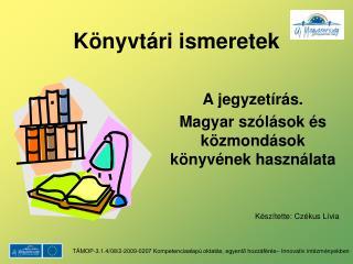 Könyvtári ismeretek