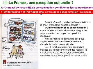 III- La France , une exception culturelle?