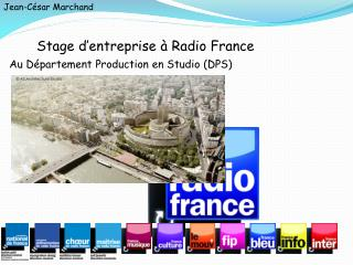 Stage d'entreprise à Radio France