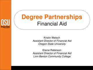 Degree Partnerships Financial Aid