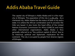 Addis Ababa Travel Guide