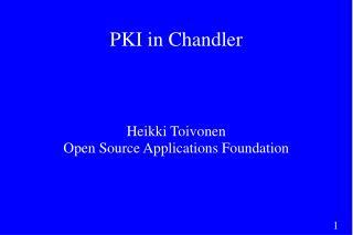 PKI in Chandler