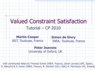Valued Constraint Satisfaction