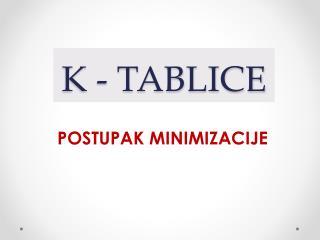 K - TABLICE