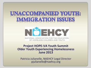 Unaccompanied youth: immigration issues