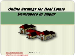 Online Strategy for Real Estate Developers in Jaipur