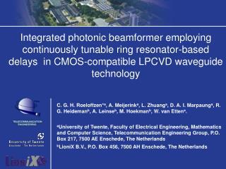 Integrated photonic beamformer employing