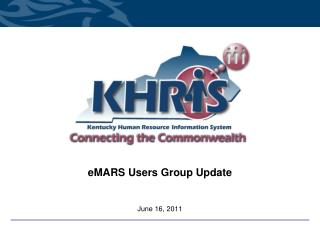 eMARS Users Group Update